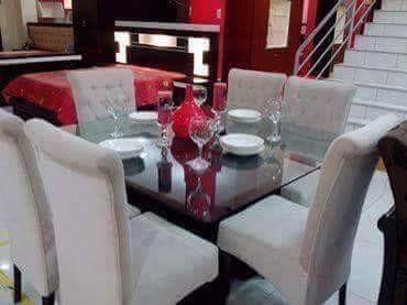 Comedores 6 sillas tapizadas modelo arabe en velvet a 1600 for Comedores 6 sillas elektra