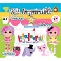 Kit Imprimible Lalaloopsy Lala Loopsy + Candy Bar Fiesta Pe
