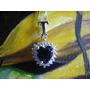 Corazon Cristal Titanic +cadena Plata Sterling 925