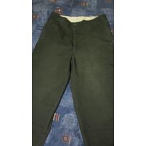 Pantalón Drill Verde Militar Corte Clásico - Oferta