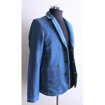Blazer De Denim Por Pull And Bear, 100% Original