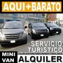 Alquiler De Mini Van Hyundai H1 Minivan Transporte Turistico