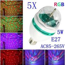 Foco Luces Led 5w Giratorio Diversos Colores E27 Rgb Fiestas