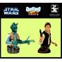Star Wars - 2 Figuras Bust Ups Series6 - Han Solo Y Greedo