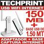 Receptor Usb Wifi Internet 150 Mb + Base + Extension 1.50 Mt