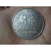Moneda De Plata El Huascar Año 1979 5 Mil Soles De Oro