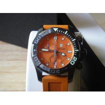 Swiss Army 241423 Dive Master 500 Chrono Dial Naranja-nuevo