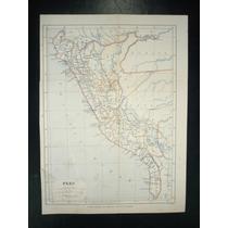 Mapa Del Perú, Cerca A 1860.