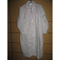 Camison Pijama Bata Franela De Dama Talla S