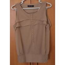 Blusa Elegante Mujer-nuevo-talla Small-marron Claro