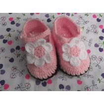 Zapatitos Para Bebe Tejidas A Mano, A Crochet