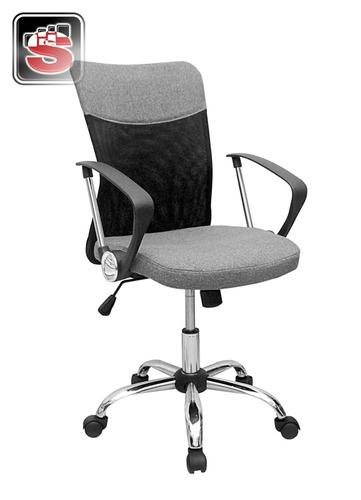 Sillon gerencial silla de oficina mod w 113 negra gris for Sillas de oficina peru