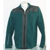 Polera Verde, Sweat Jacket, Marca Puma. Para Caballero.