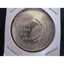 100 Soles Moneda Plata 1973 Intercambio Comercial Peru-japon