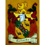 Heraldica - Escudo De Apellido - Cuadro - Pintura