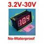 Voltimetro Digital Dc 3.2-30v Rojo Fuentes De Alimentacion