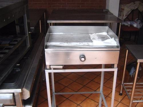 Plancha freidora acero inoxidable a gas para restaurantes - Plancha acero inoxidable precio ...