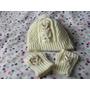 Gorritos Y Mitones En Juego Tejidos A Crochet Para Bebe