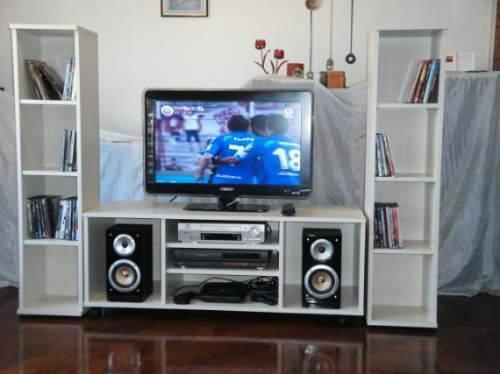 Mueble para tv equipos de dvd y sonido en melamina 18 mm - Como hacer un mueble para tv ...
