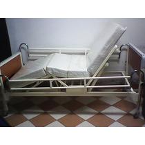Cama Clinica Nacional De 02 Manivelas + Colchon Articulable