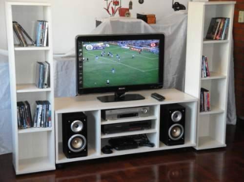 Mueble para tv equipos de dvd y sonido en melamina 18 mm - Mueble para el televisor ...