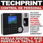 Control Asistencia Personal Lector De Huella Digital Usb Red