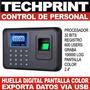Control Asistencia Personal Lector De Huella Digital Usb