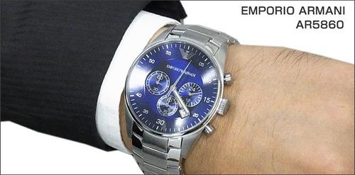 1af60de1a73 Reloj Emporio Armani Ar5860 Azul Sellado Nuevo En Caja