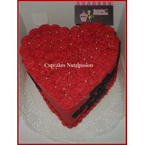 Torta Corazon S/35 Soles Precio Unico Personalizado