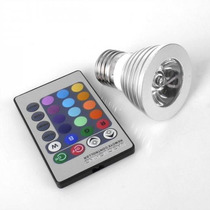 Foco 16 Colores Con Control Remoto Luz Led Decorativo 4w