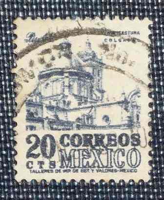 Estampillas México Arqueología Tabasco Puebla Arquitectura