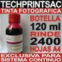 Sistema Continuo Botella Tinta Fotografica Roja 120 Ml Red