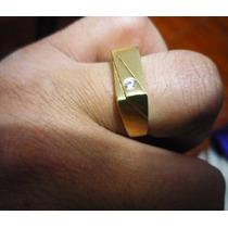 Anillo Para Hombre, Oro Amarillo De 18k / 10gr