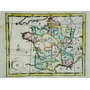 Mapa Del Reino De Francia Del Siglo Xviii