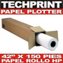 Rollo Papel Bond 42 X 150' Para Ploter 1 Mt X 45 Mt 80 Gr