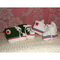 Zapatillitas Para Bebe A Mano , Tejidas A Crochet