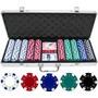 Poker 500 Fichas Maletin Aluminio + Obsequio Un Mini Domino