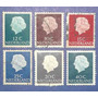6 Estampillas Stamps Reina Queen Juliana Holanda Nederland