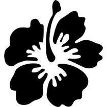 Stickers Flor Hibiscus Hawaiana Por San Valentin