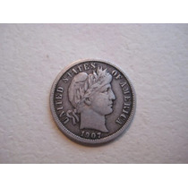 Moneda Usa Plata One Dime 1907