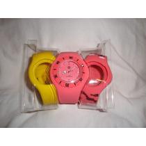 Reloj Importado Con Pulsera De Silicona Y Carcasa