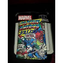 Billetera De Comics Capitan America Marvel Original En Lata