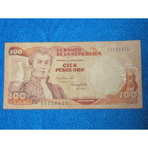 Billete De 100 Pesos Colombianos