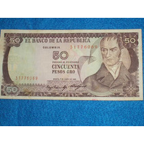 Billete De 50 Pesos Colombianos Año 1985
