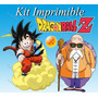 Kit Imprimible Dragon Ball Invitaciones Tarjetas Carteles