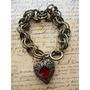 Mujer Moda Vintage Aretes,anillo,pulsera.corazon Madre Rojo