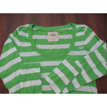 Polo Manga Larga Damas Hollister Talla Small