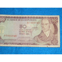 Billete De 50 Pesos Colombianos