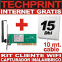 Kit Atheros Cliente Wifi Captura Internet Gratis Inalambrico