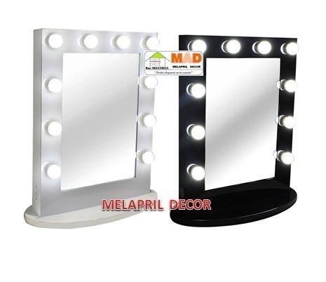 espejo para tocador con luces led tipo hollywood